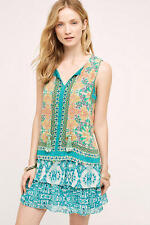 NEW Anthropologie Moana Silk Dress by Hemant and Nandita Size SP, L (Orig. $228)