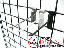 BOX 50 or 100   6 INCH GRID GRIDWALL HOOKS   OPTIONS: BLACK, WHITE or CHROME