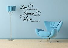 LIVE LAUGH LOVE Living Room Wall Art Quote Sticker Vinyl Decal Home Decoration