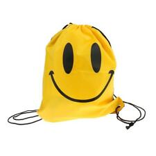 Smile Face Drawstring Swimming Bag School Bag Outdoor Sports Backpack