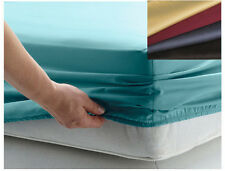 "800TC Egyptian Cotton Sateen 1pc FITTED Sheet 14"" Deep Pocket Choose Color Size"