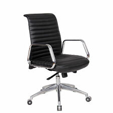 Fine Mod Imports Ox Mid-Back and Adjustable Leatherette Office Chair with 5 Star