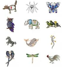 New Crystal Rhinestone Animal Brooch Pin Women Men Unisex Jewelry Unique Gift