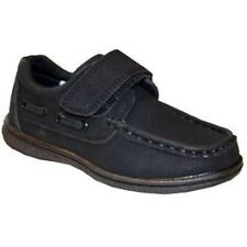 UK Seller New Boys Black School Moccasin Shoes Party Formal Size 8, 8.5, 12