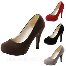 sexy platform suede party court shoes High Heels Womens Pumps Indie Ladies Size