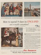 1953 Pan Am Airlines England Lower Deck Lounge President Special PAA Photo Ad