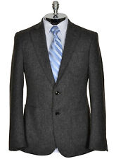 $795 HARDY AMIES LONDON Wool Charcoal Gray Herringbone Sportcoat 36 R 36R 46