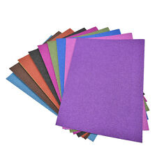 A4 Glitter Card 10 Sheets Same Colour Soft Touch DIY Craft Invitations Party New