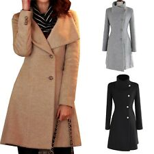 Winter Macs Stand collar Winter Indie Ladies Jacket Slim cut Trench Coat Size