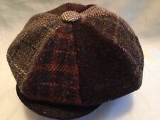 HARRIS TWEED MULTI PATCH 8 PIECE HAT GATSBY CAP  NEWSBOY BAKER BOY FROM SCOTLAND