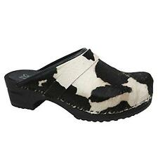 Sanita Wood Caroline Open-Back Fur Clog - All Colors - All Sizes