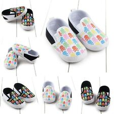 0-12M Infant Baby Boy Girl Toddler Shoes Kid Soft Sole Anti-Slip Prewalker Shoes