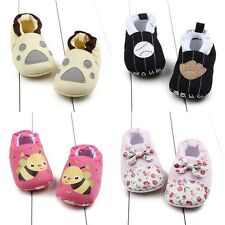0-12M Newborn Baby Kid Girls Soft Sole Shoes Infant Toddler Anti Slip Crib Shoes