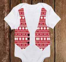 Ugly Christmas Onesies Sweater Red & Green Vest Baby Boy First Christmas