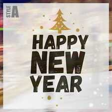 Merry Christmas and Happy New Year Wall Art Sticker Decal Window Sticker CHR017