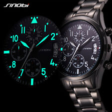 Mens Sports Watches Top Luxury Brand Chronograph Geneva Quartz Wrist Watch Black