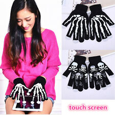 Winter Full Finger Unisex Ghost Bone Knit Skeleton SmartPhone Touch Screen Glove