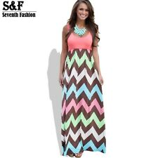 Women Summer Dress Striped Print Long Dress Beach Maxi Dress Feminine Plus Size