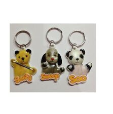 Sooty Sweep & Sue Flat Plastic Key ring 3 Designs Key chain Collect Sooty Show