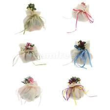Wedding Reception Party Love Gift Favor Rose Decor Ribbon Gift Bag Candy Pouches