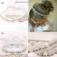 Stylish Baby Flower Girls Kids Rhinestone Elastic Headband Hair Band Accessories