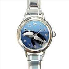 Killer Whale Orca Black Fish Italian Charm Watch (Battery Included)