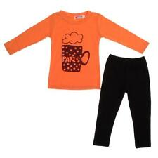 Toddler Baby Girls Outfits Clothes Long Sleeve T-shirt Tops+Pants 2PCS Set 1-6Y
