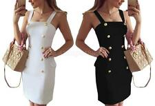 Fashion Sexy Strappy Bodycon Double-breasted OL Party Slim Pencil Dress for Lady