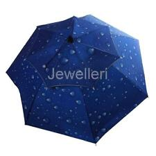 Outdoor Fishing Camping Hiking Folding Umbrella Hat Head Cap Brolly Hands Free