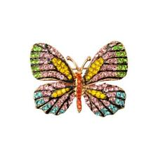 Fashion Crystal Rhinestone Butterfly Brooch Pin Accessory for Girl Women