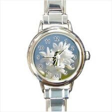 Jasmine Flowers Italian Charm Watch (Battery Included)