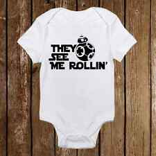 They See Me Rollin' Star Wars BB-8 Droid Baby Clothes Girl/Boy Unisex onesie