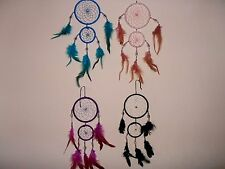 Beautiful Shell..Beaded...Feathered double web dreamcatcher.Home..car..caravan.