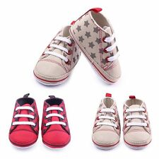 Infant Toddler Baby Boys Girls Soft Sole Crib Shoes Fashion Sneaker 0-12 Months