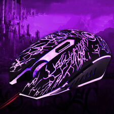 2400 DPI Optical USB Wired Gaming Gamer Game Mouse Mice For PC Laptop Desktop