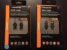 Monster High Speed HDMI w/ Ethernet Cable 8 FT / 4Ft