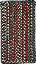 Capel Rugs St.Johnsbury Wool Double Braided Vertical Sewn Rectangle Rug Black