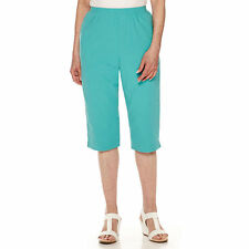 Alfred Dunner Sheeting Capri Pants Petite Size 18P Turquoise New