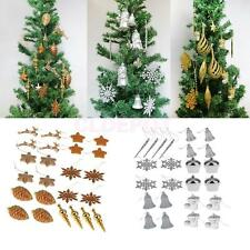 24pcs Mixed Christmas Party Ornaments Xmas Tree Hanging Decorations