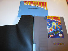 NES NINTENDO GAME TO THE EARTH  WITH BOOKLET AND DUST COVER