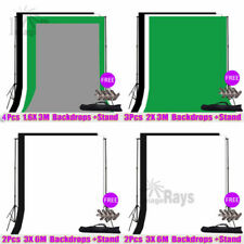 Photography Studio Backdrops Photo Video Lighting Background Support Stand Set