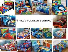 4pc Boys TODDLER BEDDING SET Comforter+Sheets Bed in a Bag Crib Decor Child Room