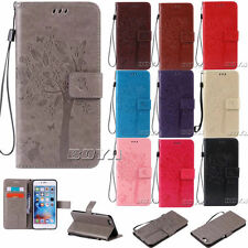 For Apple iPhone PU Leather Case Stand Wallet Patterned 7/7Plus Cover with Strap
