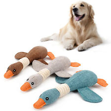 1X Funny Pet Puppy Chew Squeaker Plush Sound for Wild Goose Lovely Dog Toys Hot