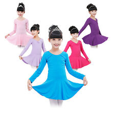 Kids Girls Leotard Ballet Tutu Party Dress Gymnastics Dancewear Skirts Costume