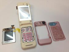 Original & New Cover Parts LCD For Nokia 7390 Pink / Black