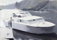 Max Mitchell Smith Mountain Lake 1970 Boat Canvas Giclee Print Art Picture 34x24