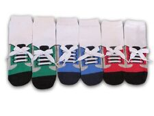BAREFOOT Socks with Laces ~ For Baby & Toddler Boys - 3 Pack  - red, blue, green
