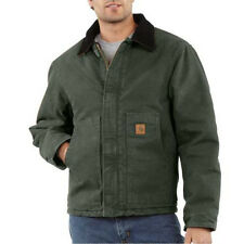 Carhartt Sandstone Duck Arctic Traditional Jacket - Quilt Lined - MOSS GREEN