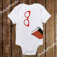 Pink Glasses with Book - Nerdy Baby Onesies - Geeky Baby Girl Clothes Infant